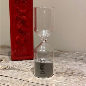 West Elm 15 min Hourglass Timer